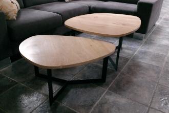 Table Basse Gigogne Bois Metal Benoit Lafoucriere Artisan